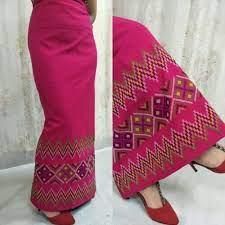 Mex Red Diamond Mizo Dress - Mizofashion