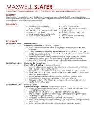 Trucking Resume Sample transportation resume Aprilonthemarchco 19