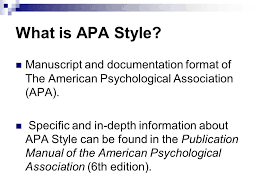 american phsycological association what is apa style manuscript and documentation format of the
