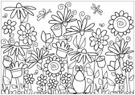 Drawing Flower Flowers Adult Coloring Pages