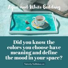aqua and white beddding sets check