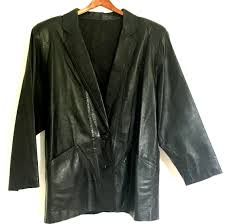 custom made in italy leather men s jacket size large