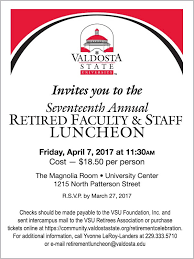Annual Retiree Luncheon Valdosta State University
