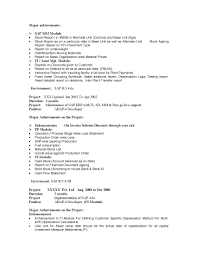 Sap Fico Implementation Resume Resume For Study
