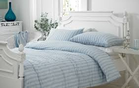 blue stripe duvet cover single