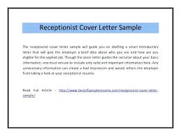 Best Ideas Of Junior Receptionist Cover Letter Sample Nice Assistant