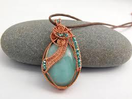 copper wire wrapped ite pendant