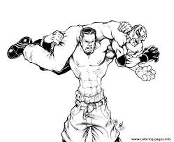 Wwe Coloring Pages Printable Coloring Image