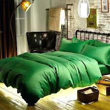 cotton sateen woven fabric emerald green duvet cover bed queen bedspread king bedding sets quilt blanket