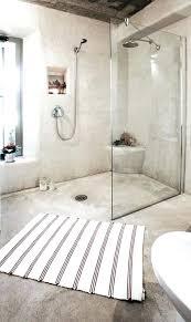 concrete shower floor enchanting pebble bathroom