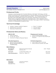 Sample Profile In Resume Resume For Your Job Application
