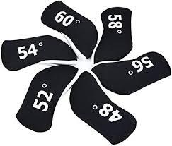 <b>6pcs</b>/Set Neoprene <b>Golf Wedge</b> Cover <b>Wedge</b> Head Cover (Black ...