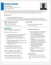 Financial Advisor Resume Template Extraordinary Financial Advisor Resume Examples] 28 Images Financial Advisor