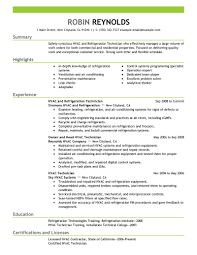 Hvac Resume Objective Examples Free Resume Example And Writing