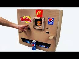 How To Make A Vending Machine Out Of Cardboard Box Adorable How To Make Coca Cola Soda Fountain Machine With 48 Different Drinks