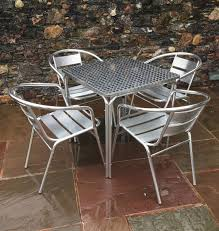 aluminium stainless steel outside stacking bistro cafe furniture