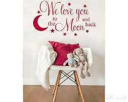 we love you to the moon and back on love you to the moon and back wall art uk with we love you to the moon and back with hanging planets and rocket