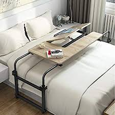 Over bed desk Rolling Komorebi Overbed Table On Wheels Over The Bed Table Laptop Cart Laptop Desk Mobile Computer Desk Fourth Dimension Solutions Komorebi Overbed Table On Wheels Over The Bed Table Laptop Cart