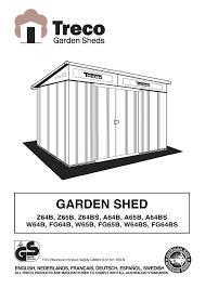 garden shed manualzz