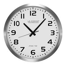 la crosse technology wt 3161wh 16 inch metal atomic og clock