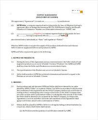 **this is a template contract for supply and delivery of goods and may need to be modified according to the specific requirements of the price for every day of delay or breach of the delivery schedule by the supplier. 10 Supply Contract Templates Free Word Pdf Apple Pages Google Docs Format Download Free Premium Templates