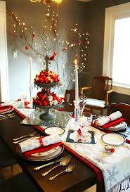 christmas centerpieces for dining room tables. Dining Room Cream Sofa Orange Kerchiefs White Fur Rug Seat Cushion Plated Cutlery Table Arrangements Centerpiece Christmas Centerpieces For Tables