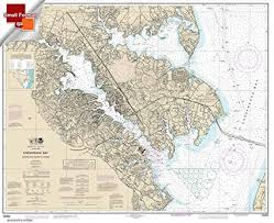 Paradise Cay Publications Noaa Chart 12282 Chesapeake Bay Severn And Magothy Rivers 21 00 X 25 81 Small Format Waterproof