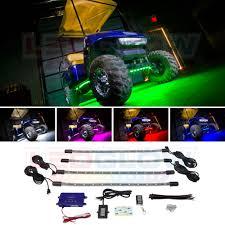 Golf Cart Underbody Lights Details About 4pc Ledglow Million Color Led Golf Cart Underbody Light Kit 12 Volt Ez Go