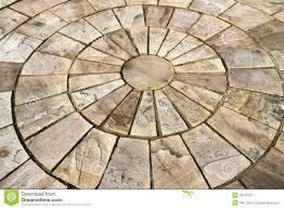 Circle Tiles Circle Design Stone Floor Tiles Royalty Free Stock Photo Image