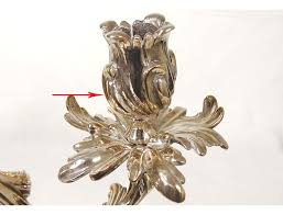 pair candlesticks louis xv chandelier silver 2 bronze candlesticks 18th fires