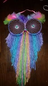 How Dream Catchers Are Made Rainbow owl dream catcher made with love for my niece crochet 92