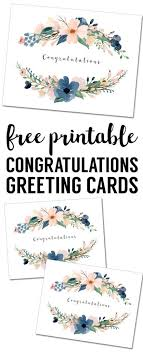 Free Blank Greeting Card Templates Stunning Congratulations Card Printable Free Printable Greeting Cards Free