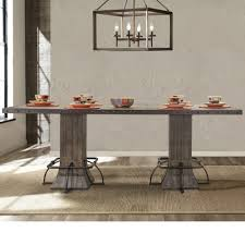jennings wood rectangular counter height dining table only in distressed walnut