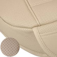 universal beige car front seat cover breathable pu leather seat pad cushion 702706039161