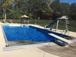 inground pools with diving board and slide. Inground-pool-rectangle-south-hills-pittsburgh-slide-patio- Inground Pools With Diving Board And Slide