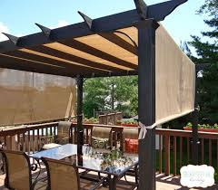 To maximize shade, this couple got rid of their deck umbrella in favor of  THIS!