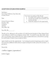 Accepting Offer Letter Reply Sample Accept Job Acceptance