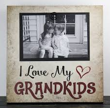 grandkids picture frame grandma grandpa primitive sign photo