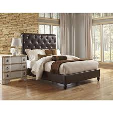 ski furniture all in 1 brown king sleigh bed 1886 br k2 the quintero headboard sleep outers