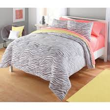 your zone gray and yellow zebra comforter set walmart com idolza