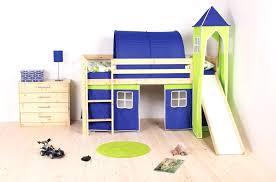kids loft bed with slide.  Loft Beds With Slides Best Wooden Kids Loft Bed Slide And Blue Green  Tent Including On Kids Loft Bed With Slide S