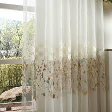 White Curtains for Living Dining Room Bedroom Korean Simple Plain ...