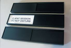 office black. Sliding Office Sign GSA/Gov Black A