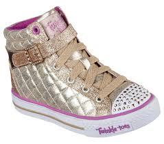 skechers twinkle toes high tops gold. skechers girl\u0027s twinkle toes: shuffles - sweetheart sole gold light-up sneaker toes high tops sears