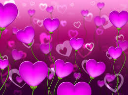 Mauve Hearts Background Represents Valentine Day And Backgrounds