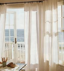 office drapes. Breezy Home Office...Sheer Curtains And French Doors Leading Out To Beach House Office Drapes