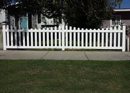 vinyl picket fence front yard. We Installed This White Vinyl Picket Fence In Santa Monica, CA. It Features A Scalloped Top Style, Dog Eared Pickets, And New England Style Posts. Front Yard