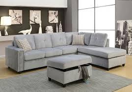 gray velvet sectional. Modren Sectional The Beville Gray Velvet Sectional With N
