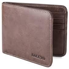 wallet genuine leather bifold blocking