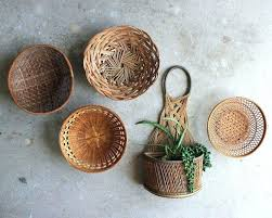 flat wall baskets vintage wall basket collection set of 5 basket wall art display basket decorative